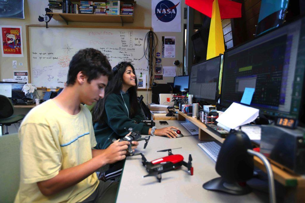 Upper School students work on a capstone project