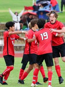 Boys soccer, upper school at HPA