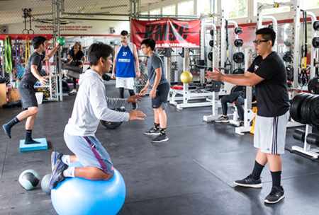 Nakamaru Fitness Center, upper school campus at HPA
