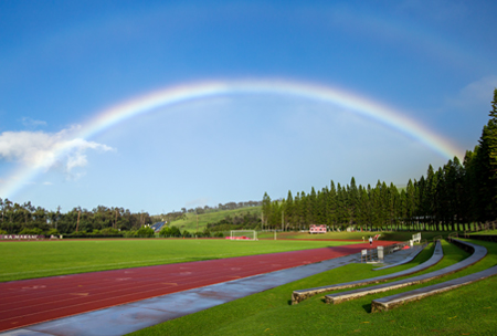 Stanford W. Shutes Track, upper school campus at HPA