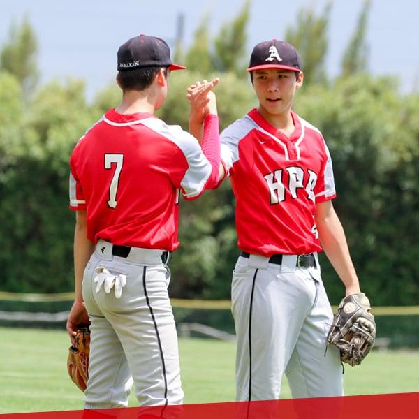 Boys baseball, upper school at HPA