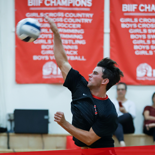 Boys volleyball, upper school at HPA
