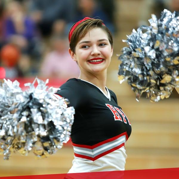 Cheerleading, upper school at HPA