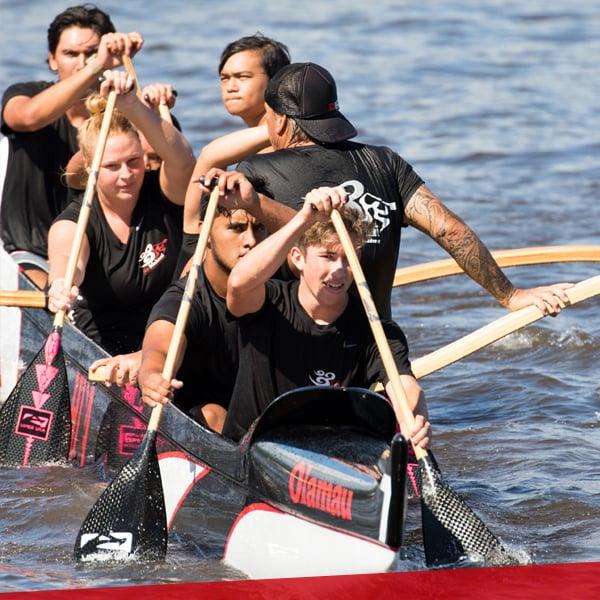 Girls/Boys canoe, paddling, upper school at HPA