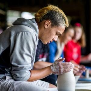 Ceramics room, Gerry Clark Art Center, Upper School