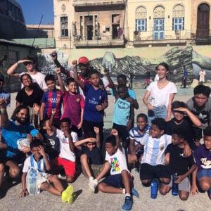 Afternoon football (the kids won), Cuba, 2019