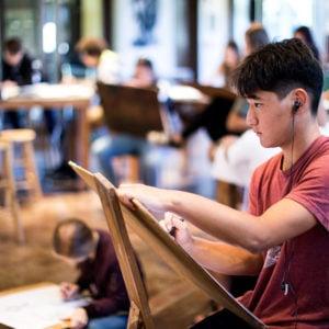 Drawing class, Gerry Clark Art Center, Upper School