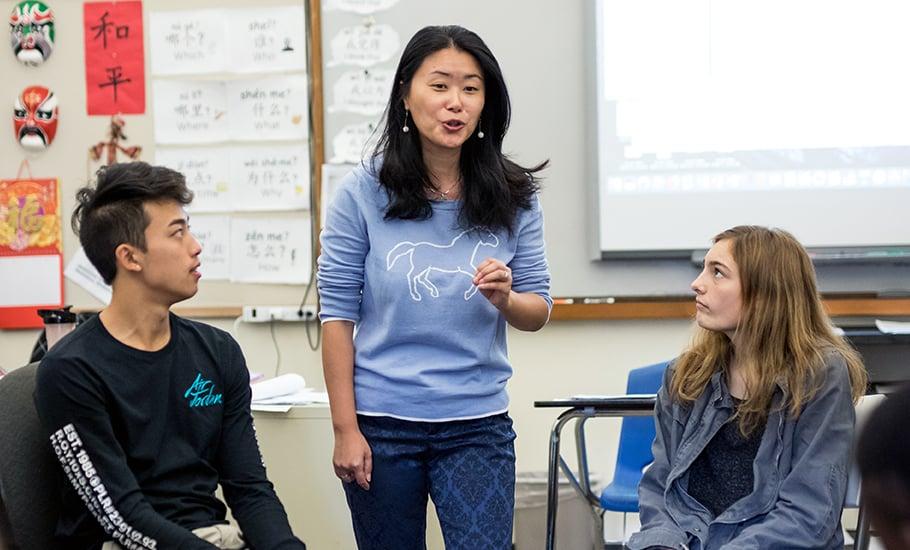 Jing Lei, Upper School modern language teacher