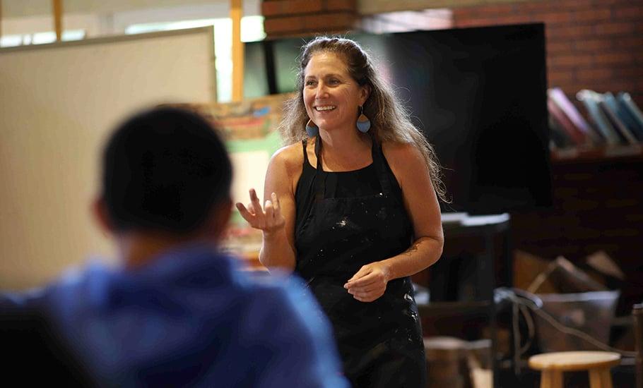 Sally Lundburg, Upper School art teacher